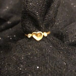 Tiffany and Co. 18k Peretti Full Heart Ring